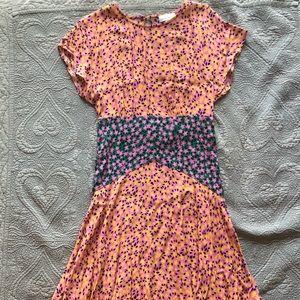 Floral Topshop Angled Hem Dress
